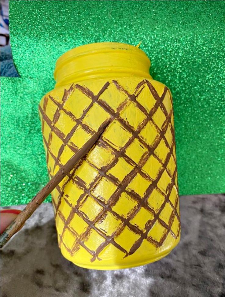 painted pineapple jar