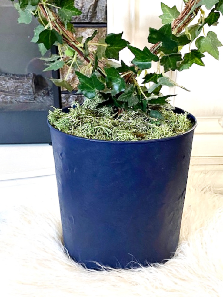 painted suede planter
