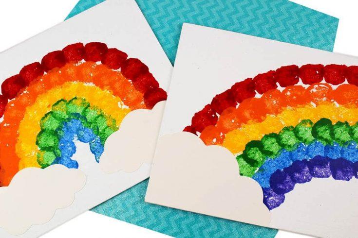 Rainbow Cotton Ball Craft