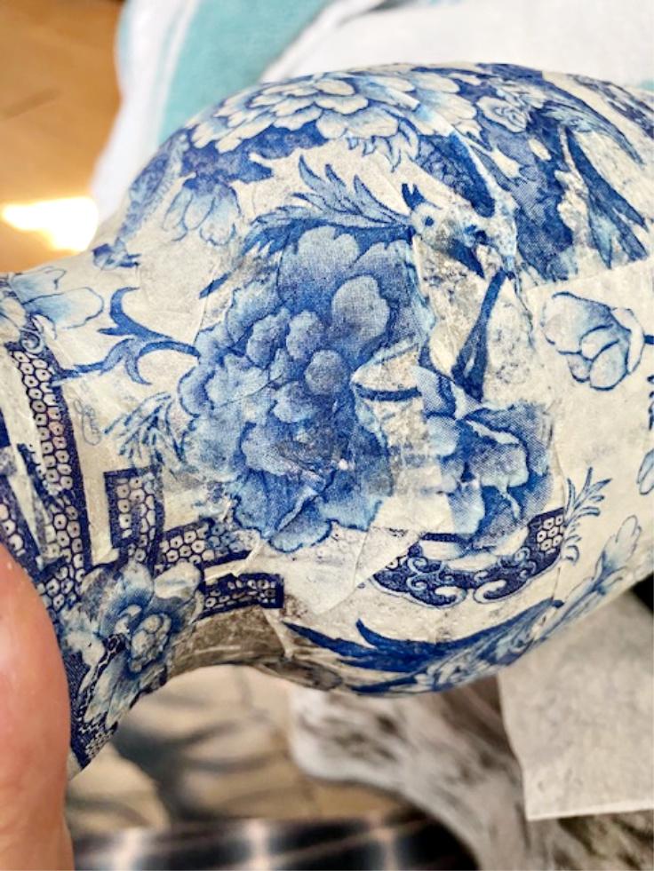 top coat on glass vase