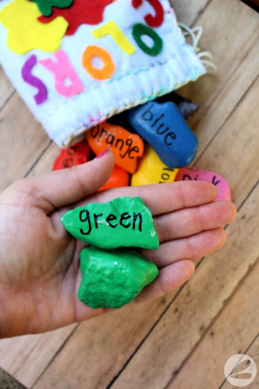 Rainbow Mix & Match Painted Rock Craft » Homemade Heather
