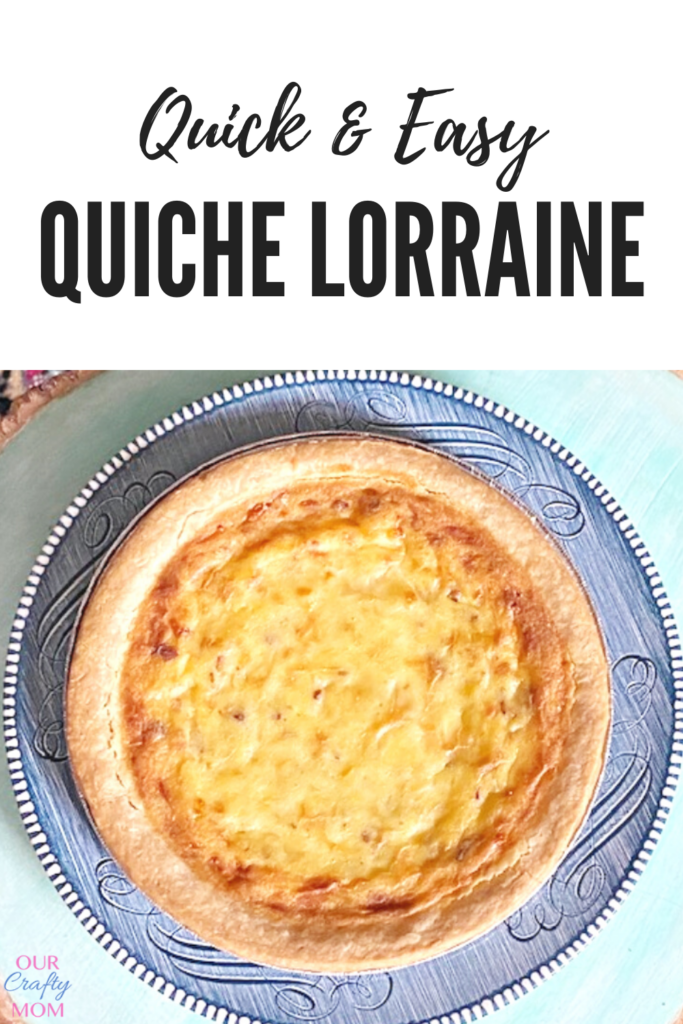 quick and easy quiche lorraine