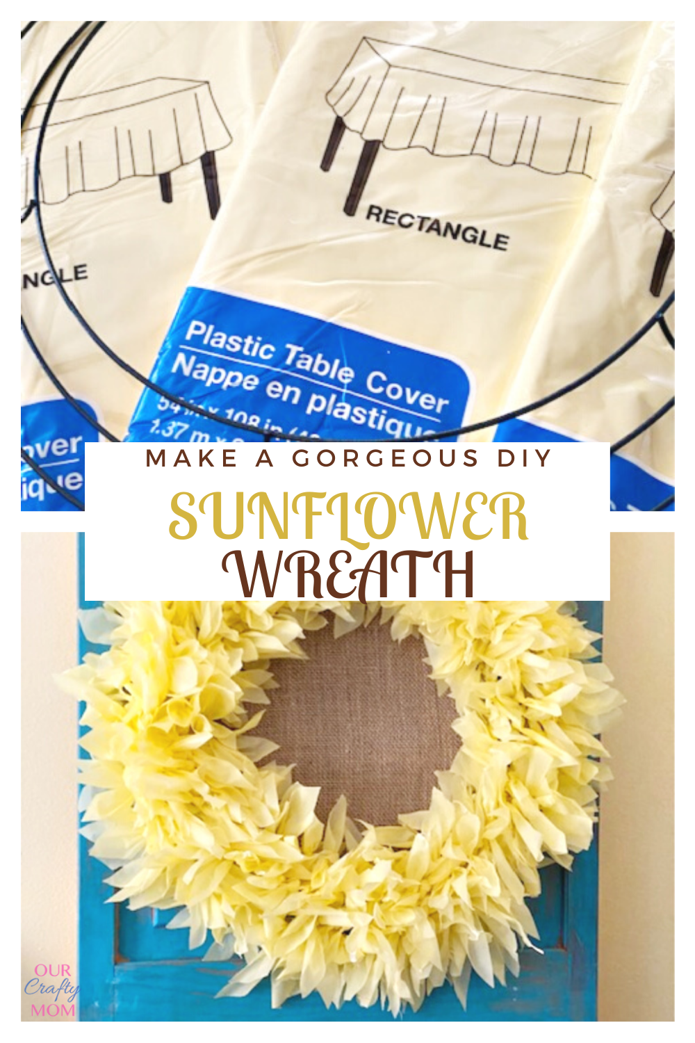 make a gorgeous diy sunflower wreath collage