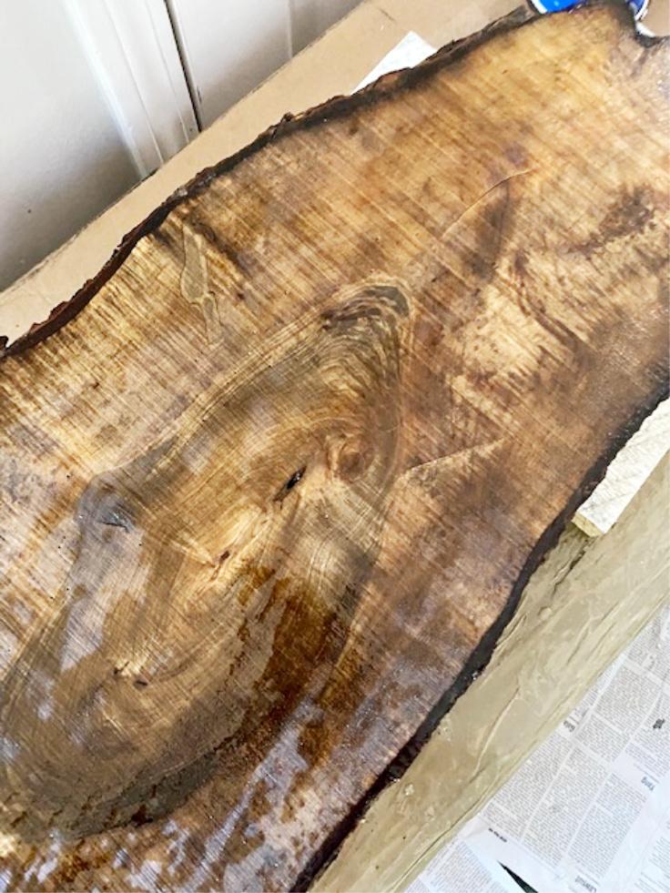 sanded wood slice