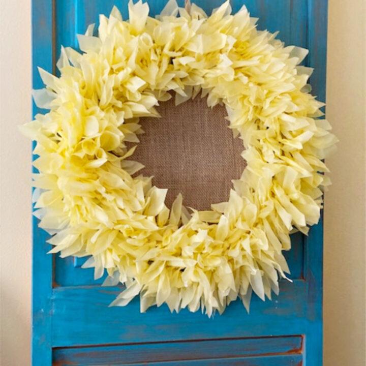 sunflower wreath dollar store