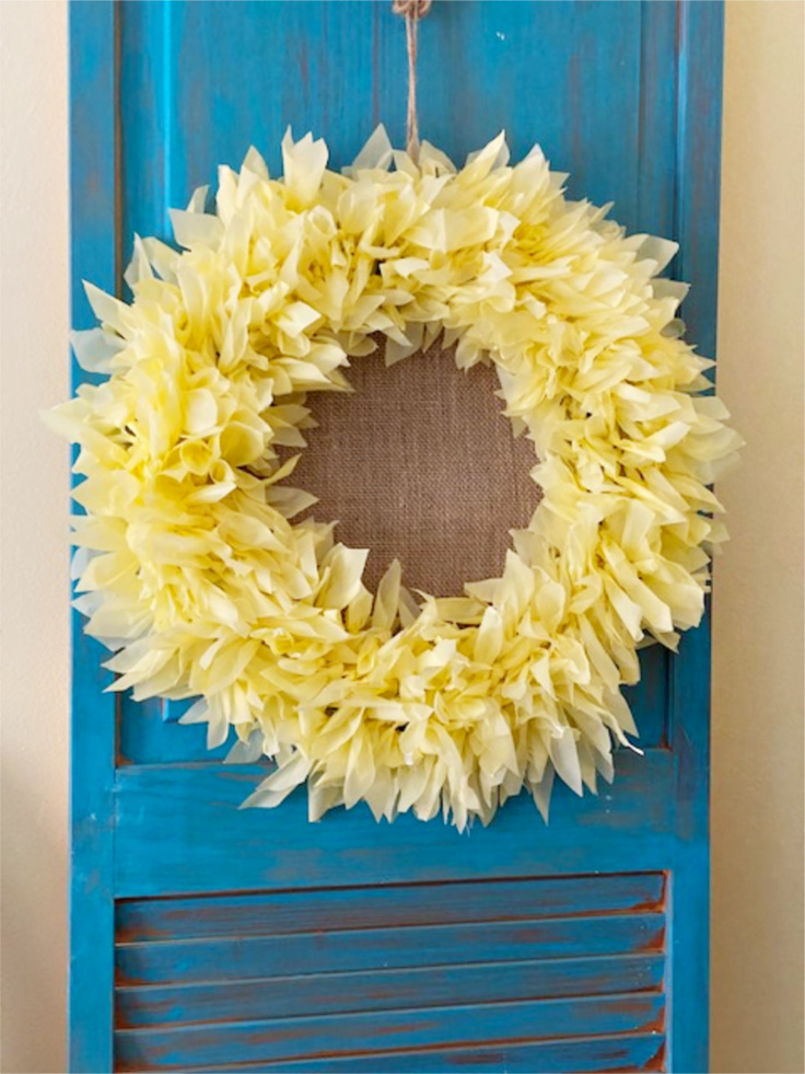 sunflower wreath dollar store