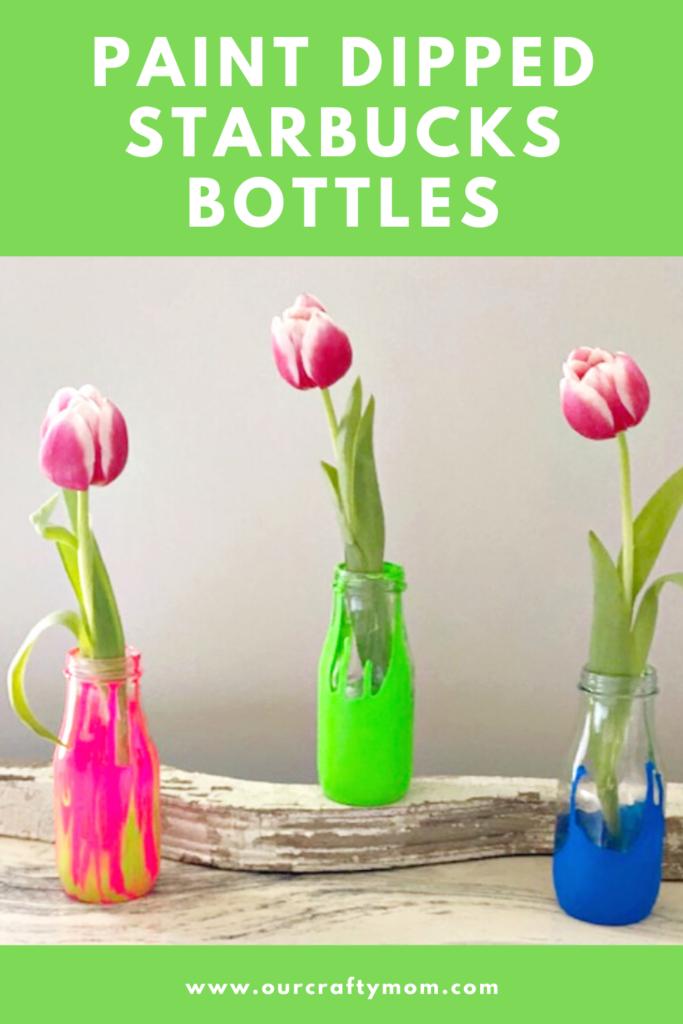 paint dipped starbucks bottles