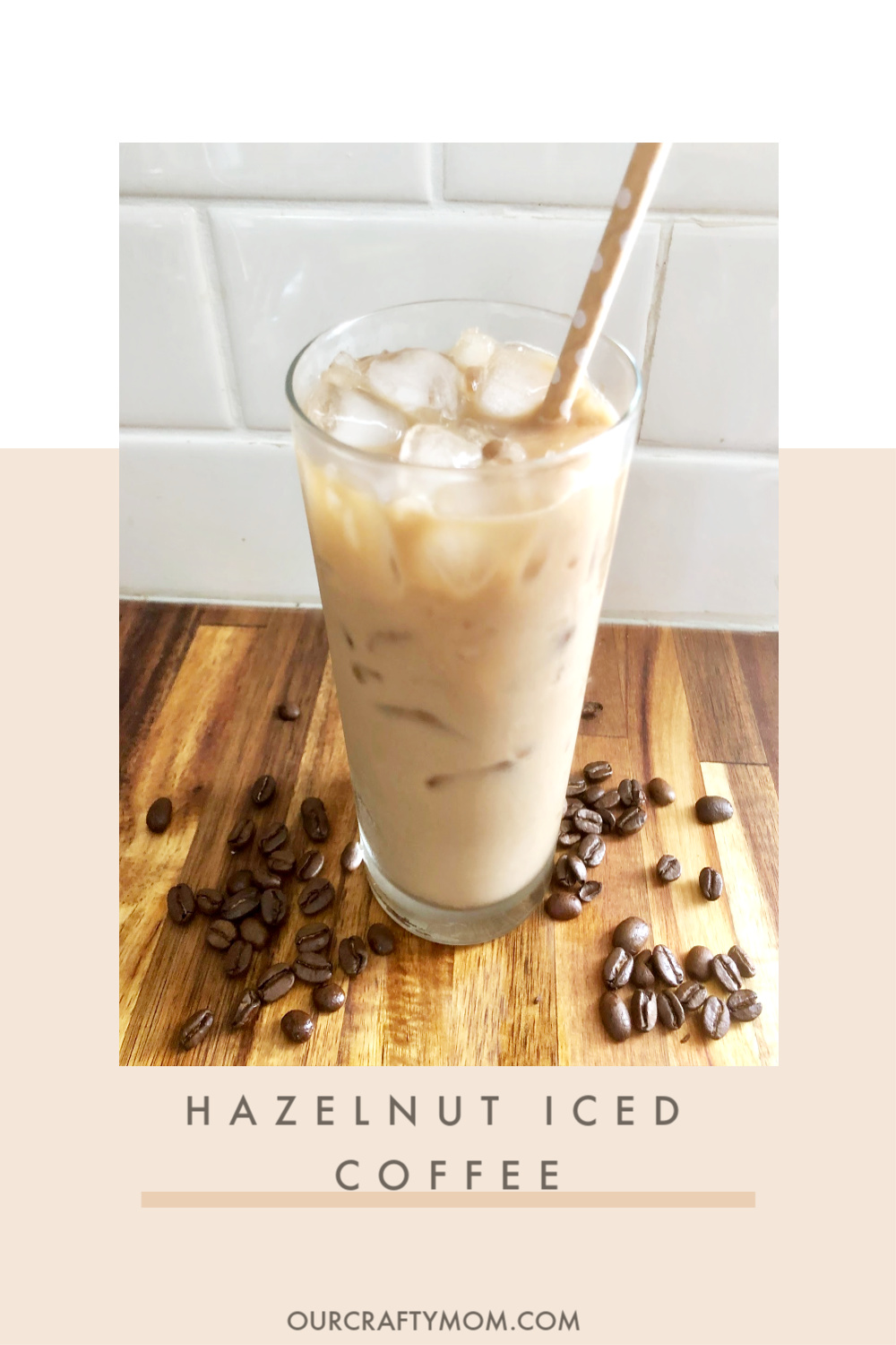 iced coffee with hazelnut
