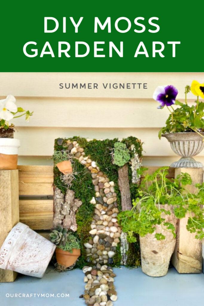 diy garden moss art