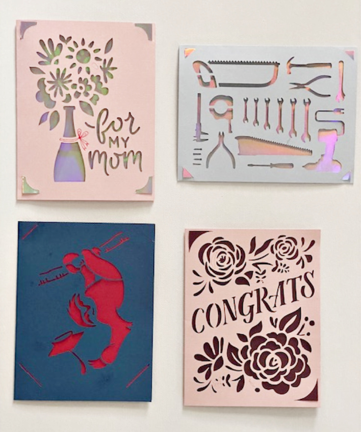cricut joy cards four