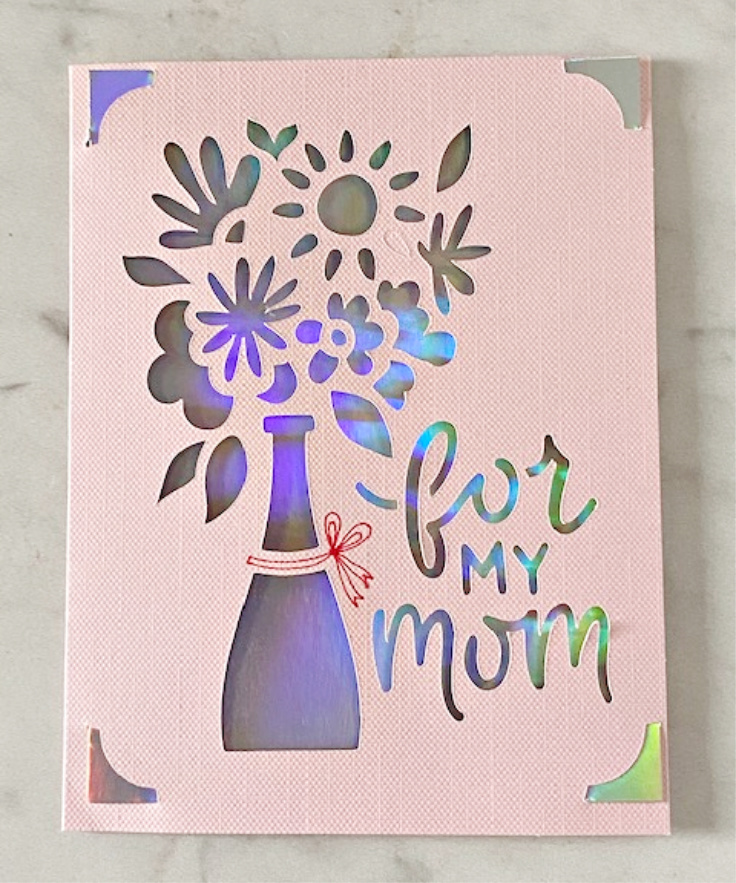 cricut joy mother's day card