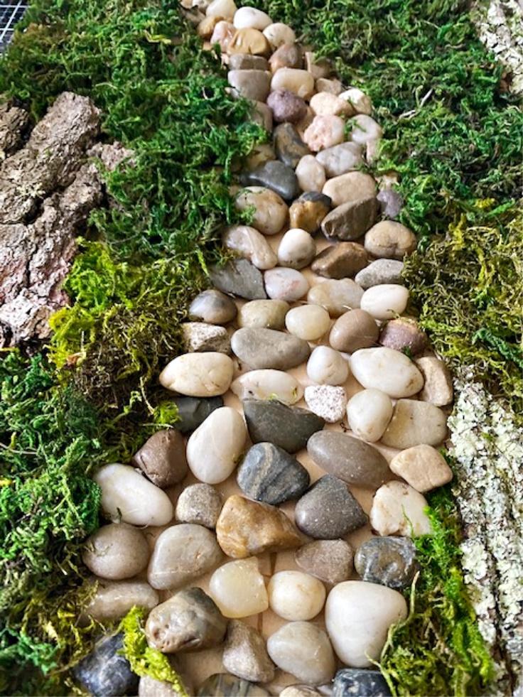 moss garden art diy