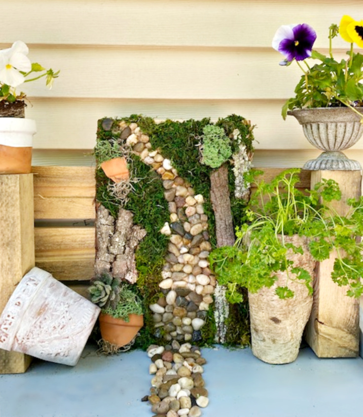 diy moss wall garden art