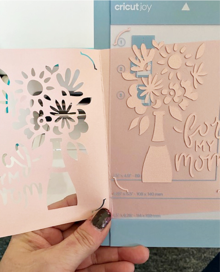 mother's day card cricut joy