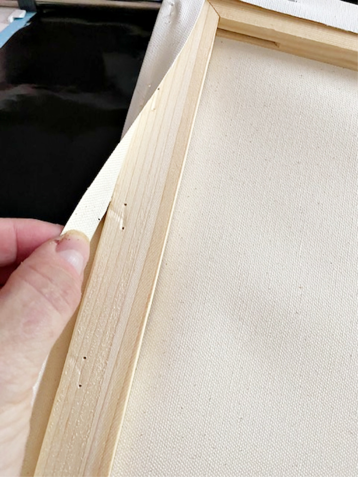 removing canvas