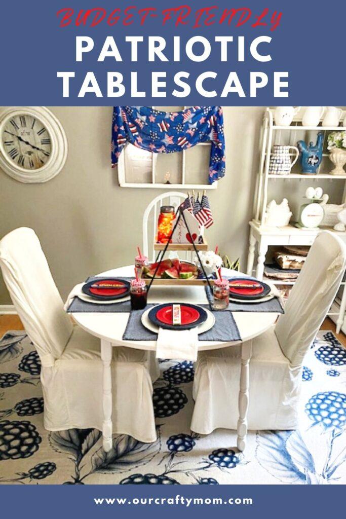 budget-friendly patriotic tablescape