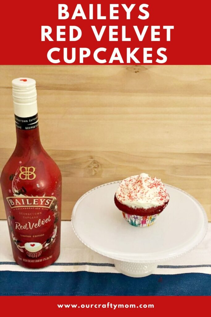 Baileys Red Velvet Cupcakes with cream cheese frosting homemade