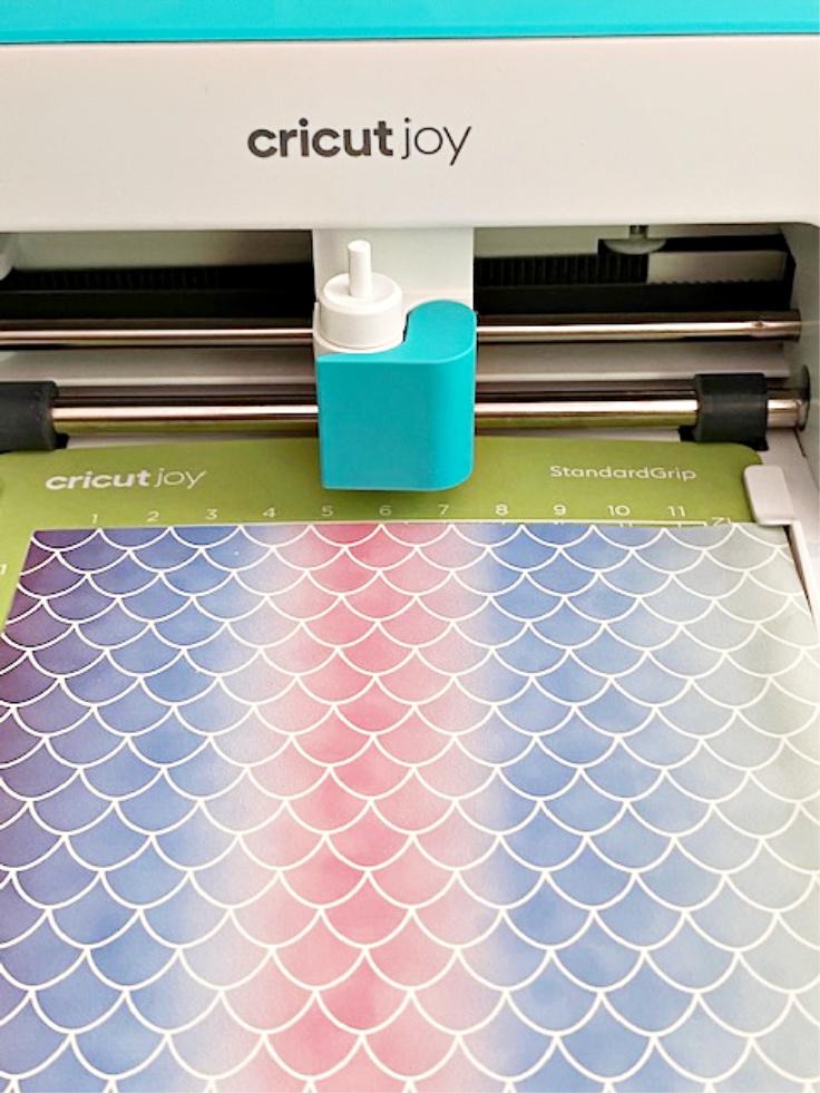 mermaid rainbow paper on cricut joy
