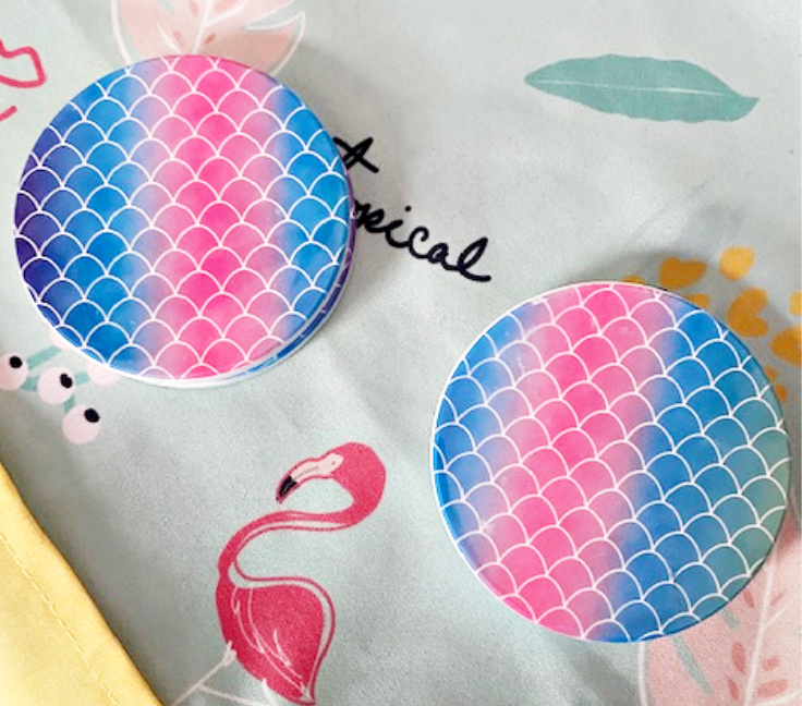 infusible ink coasters on summer background