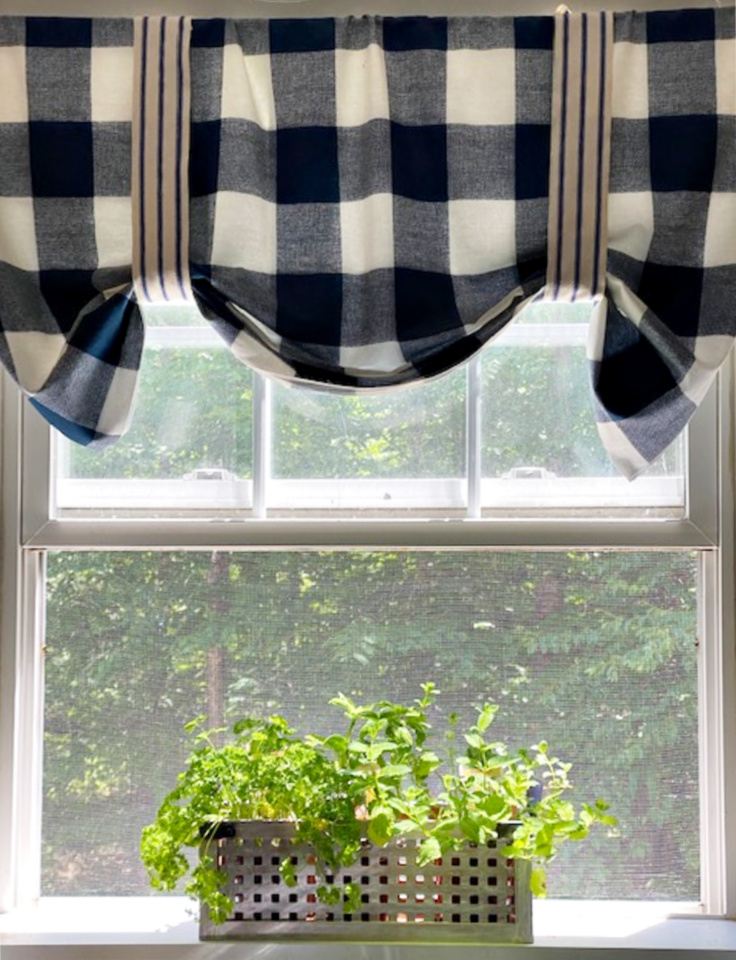 kitchen herb garden in window