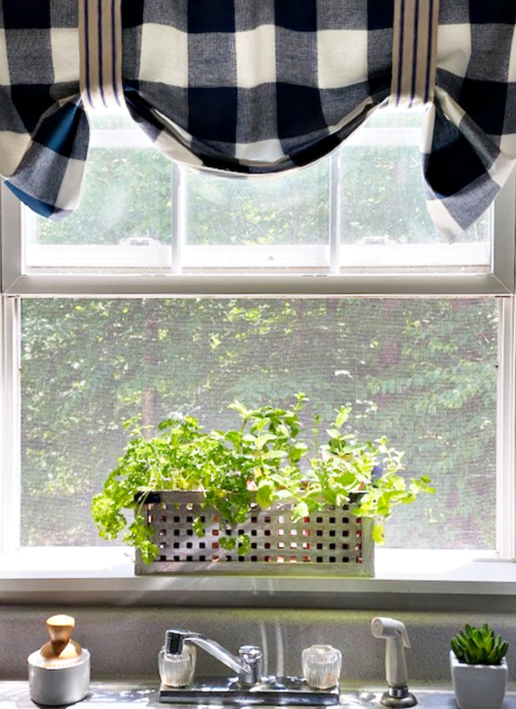 windowsill kitchen herb garden