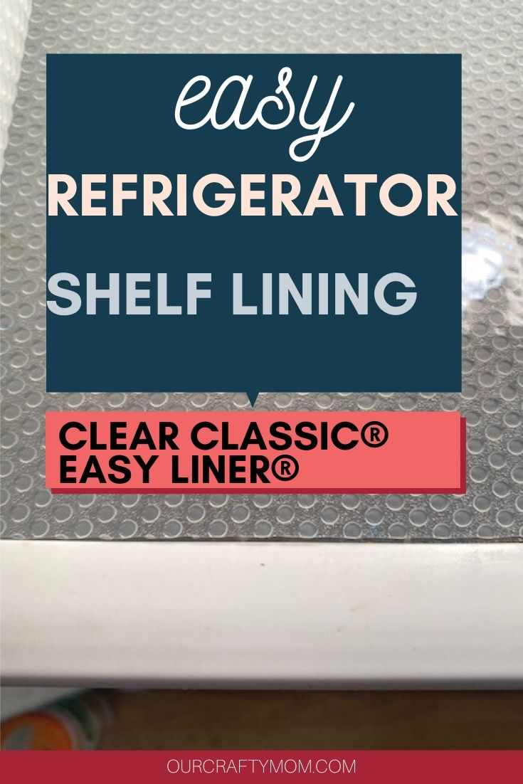 refrigerator shelf lining with clear classic easy liner