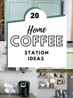 20 diy home coffee station ideas