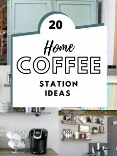 20 diy home coffee station ideas