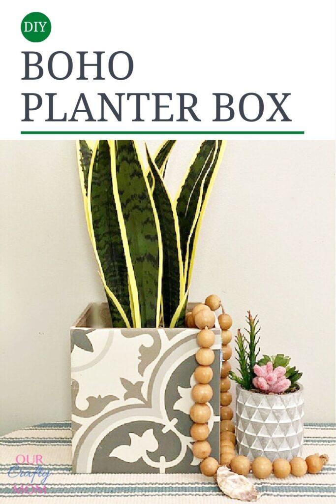 boho chic planter box