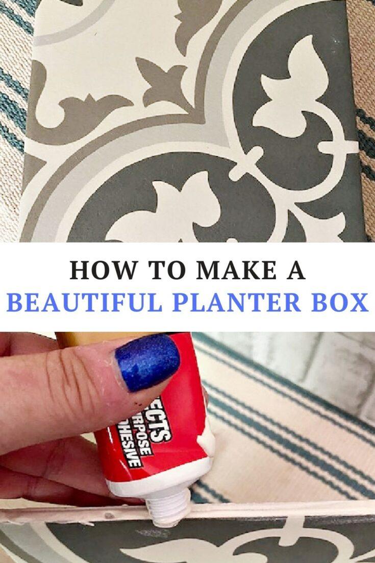 supplies diy tile planter box