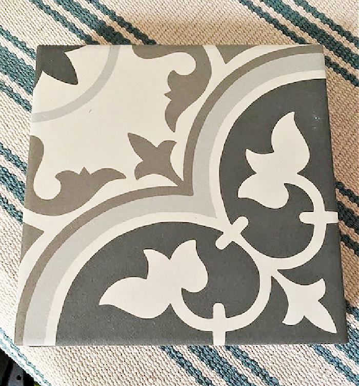 boho chic ceramic tile