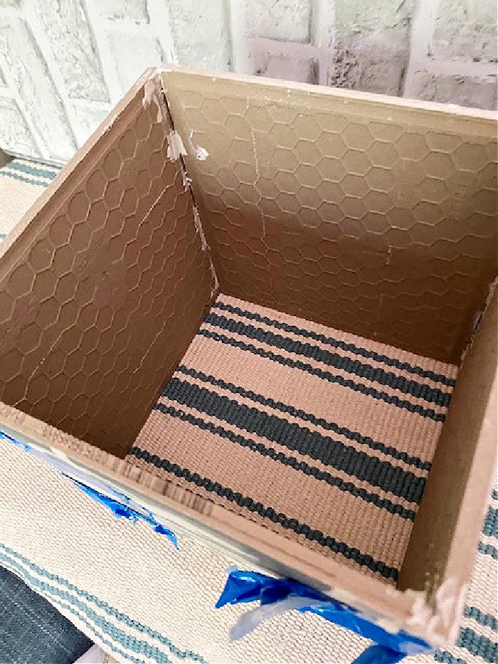 boho chic tile glued together