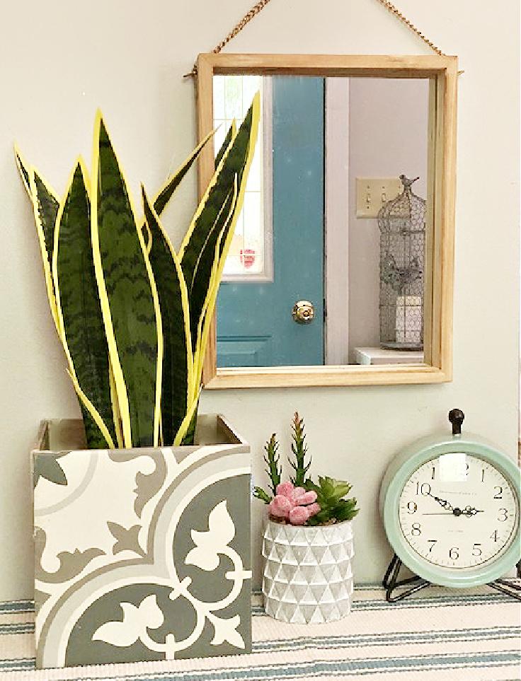 ceramic tile diy planter box