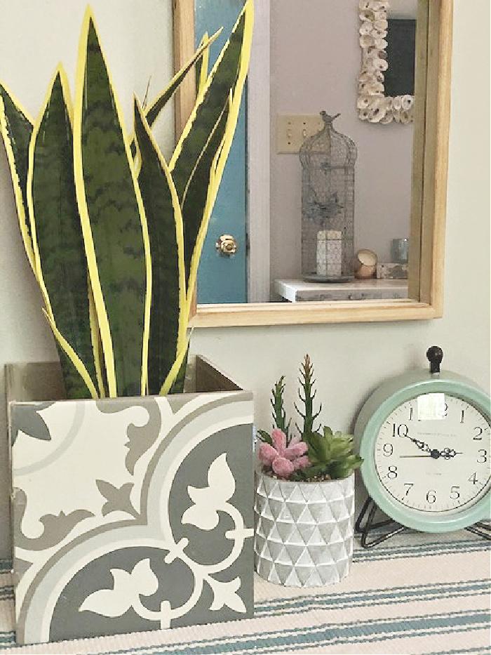 diy planter tile from ceramic tiles