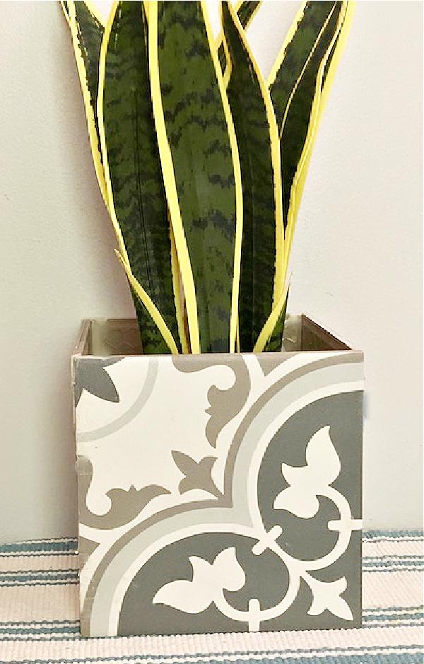 diy ceramic tile planter box
