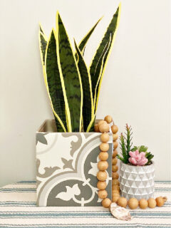 ceramic tile planter diy