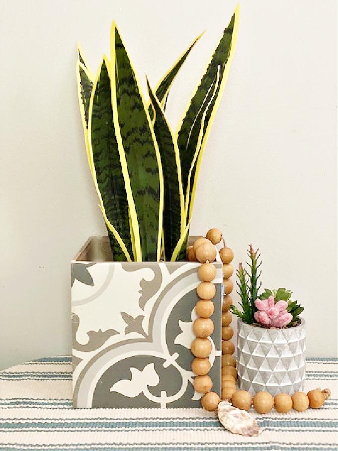 ceramic tile planter diy