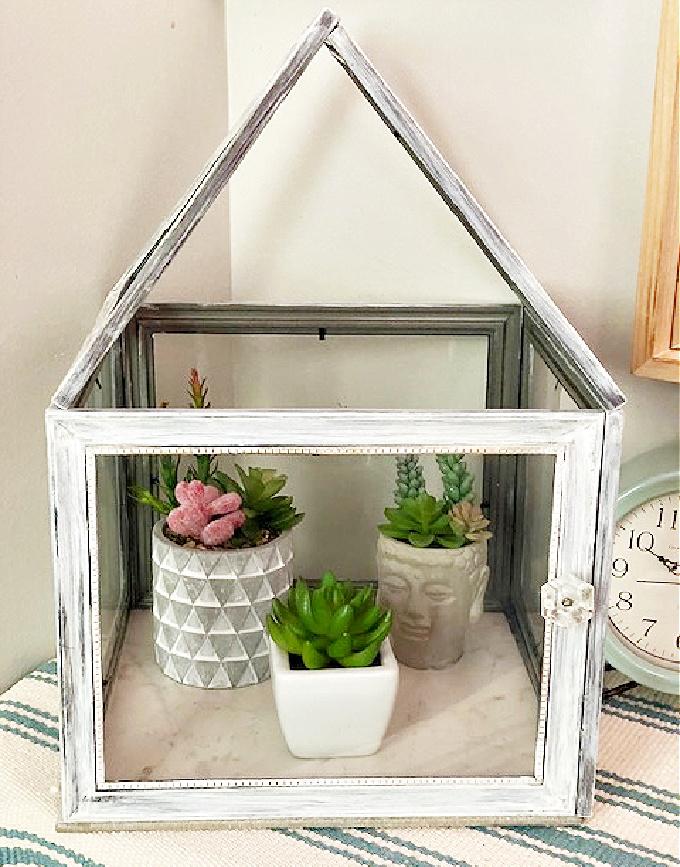 diy terrarium from dollar store frames