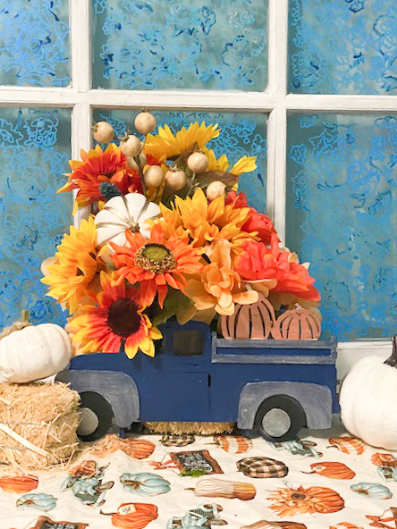 fall truck centerpiece