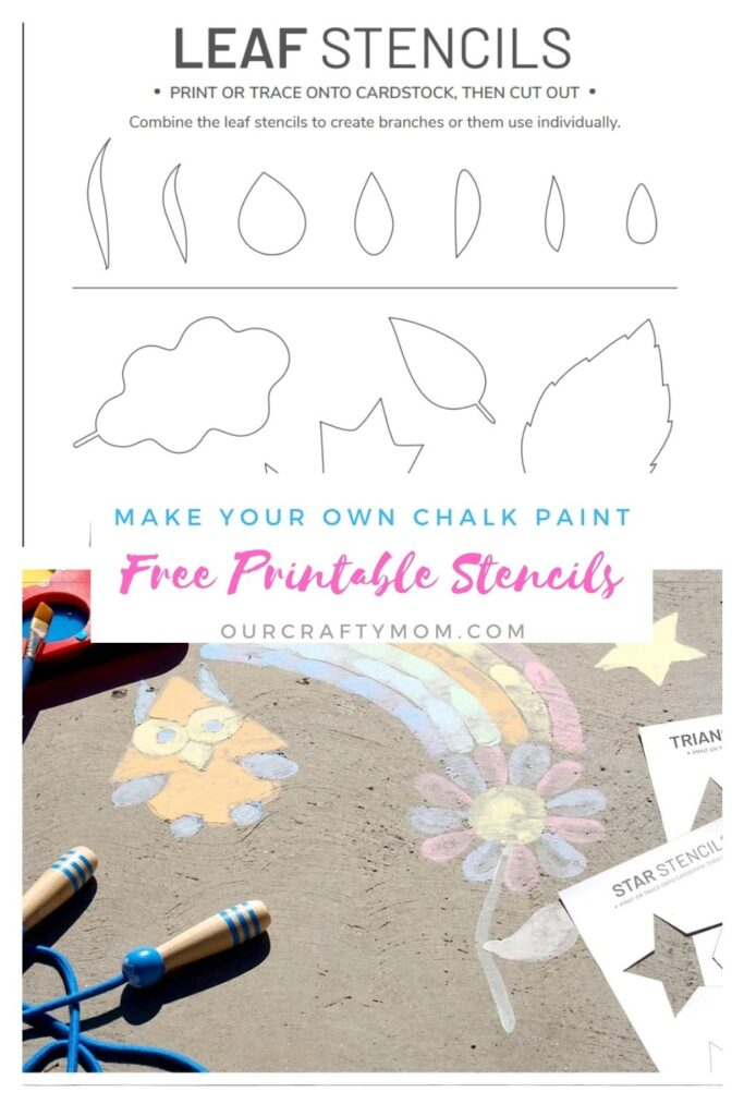 free stencils and diy chalk paint