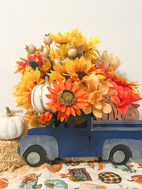 diy truck centerpiece