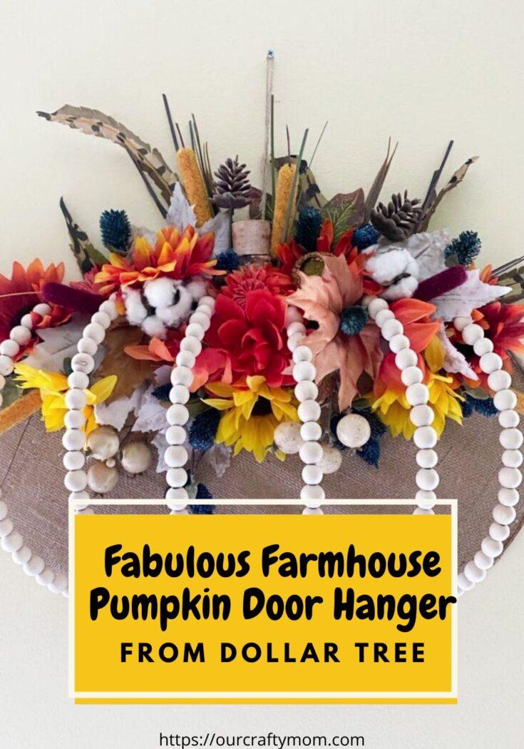 diy wood bead farmhouse pumpkin