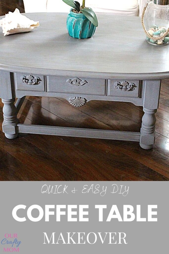 coffee table makeover with chalk paint
