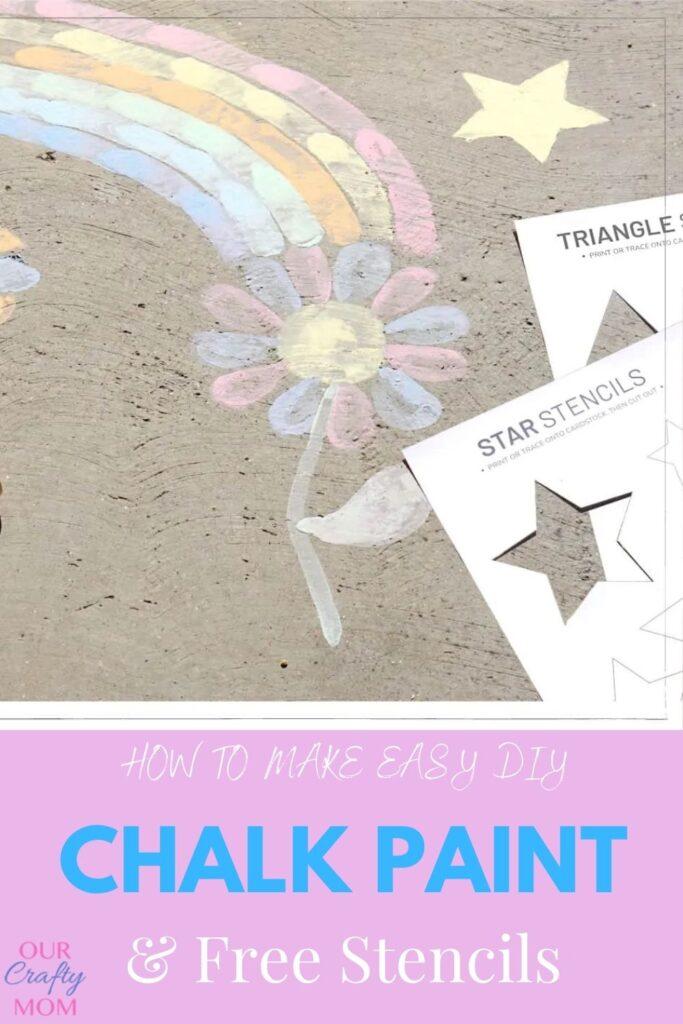diy chalk paint & free printable stencils