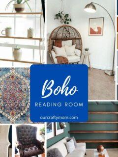 boho reading room