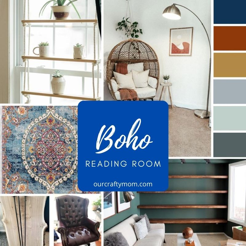 boho reading room diy
