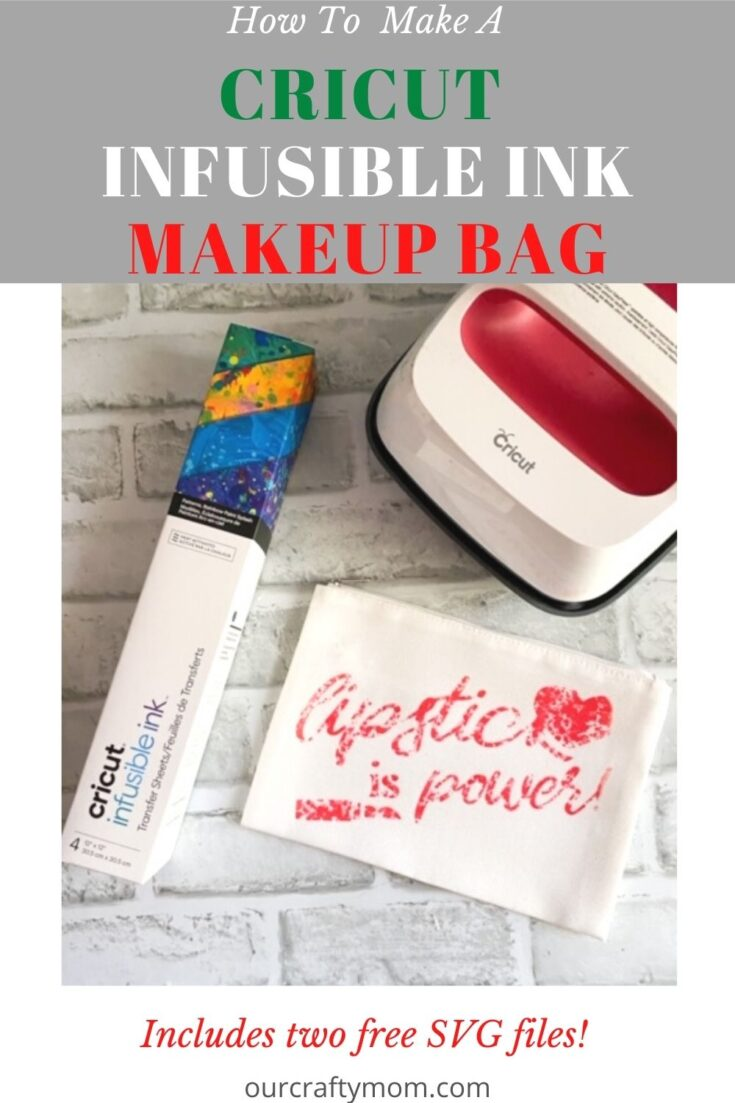 Cricut infusible ink makeup bag