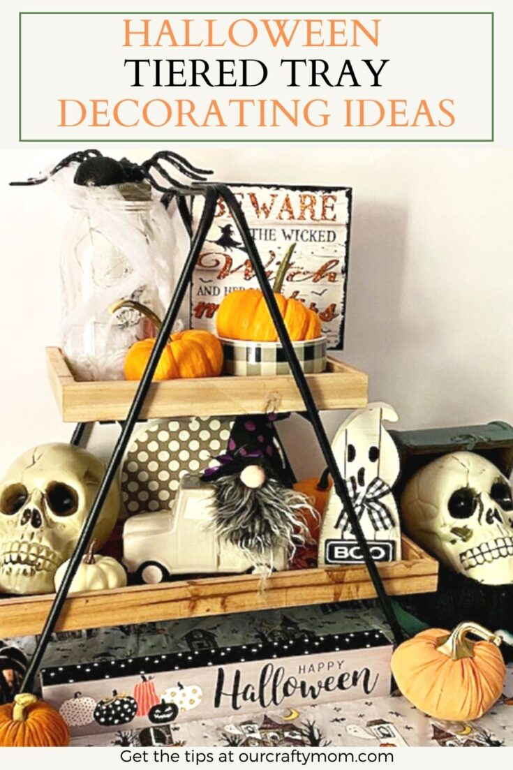 halloween tiered tray decorating ideas
