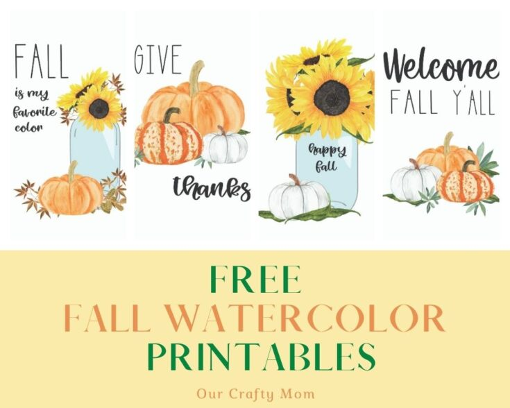 set of 4 free printables