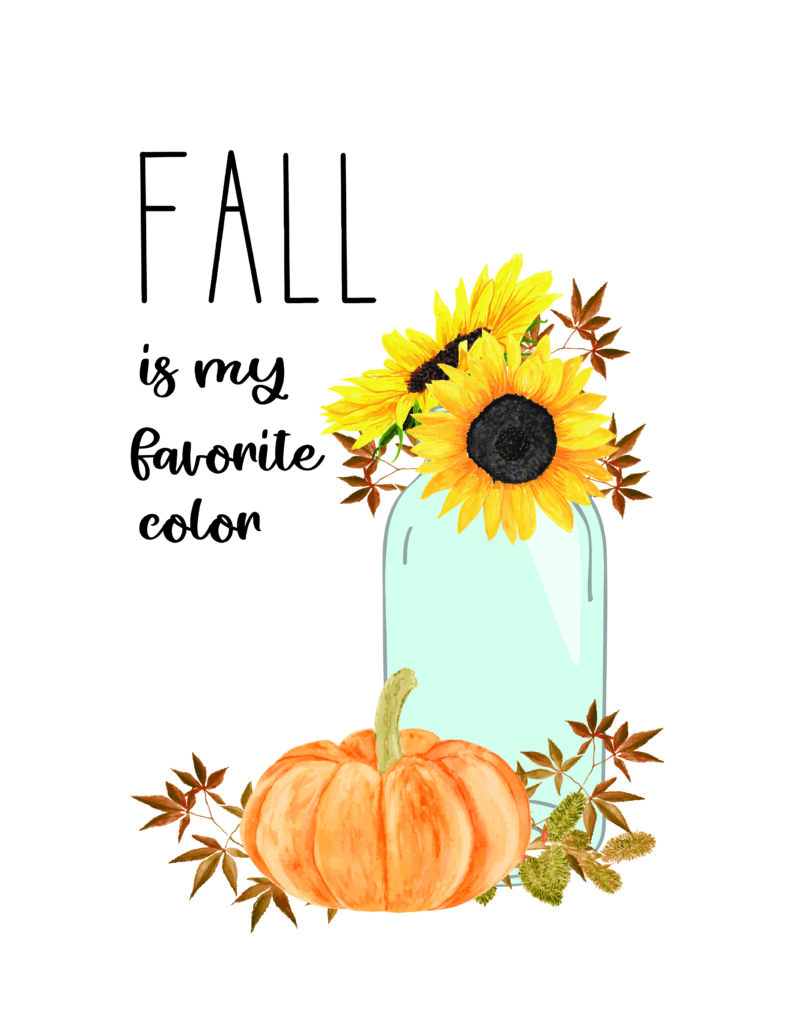 free fall watercolor printables fall Is My Favorite Color
